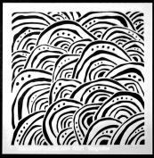 15cm x 15cm Whimsical Waves Stencil by Terri Stegmiller