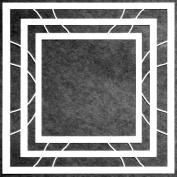 15cm x 15cm Nested Squares Full Stencil by Carol Wiebe