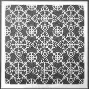 15cm x 15cm Ornamental Compass Screen Stencil by Gwen Lafleur