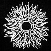 15cm x 15cm Deconstructed Chrysanthemum Stencil by Tracie Bautista