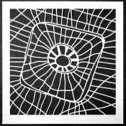 15cm x 15cm Entangling Web Stencil by Terri Stegmiller