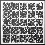 15cm x 15cm Mixed Grid Stencil by Daniella Woolf