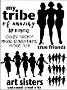 23cm x 30cm Finding Your Tribe Stencil by Carolyn Dube