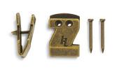 HangZ 40031B Canvas Flat Mount Sawtooth Picture Hooks (50 Pack), 6.8kg, Antique Brass