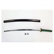 Obitsudoru tail chest armed No1 sword blade Kamon green pattern ~ black sheath (Ranhamon) sword state about 33cm