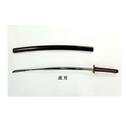Obitsudoru tail chest armed No1 sword blade Kamon red pattern ~ black sheath (straight blade crest) sword state about 33cm