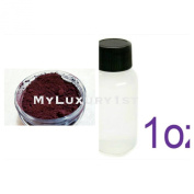 30ml Burgundy Pigment Powder in Jar and 30ml Cold Process Soap Vanilla Colour Stabiizer
