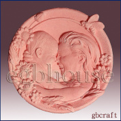 Mother and Child Having Fun- Detail of High Relief Sculpture - Silicone Soap/polymer/clay/cold Porcelain Mould