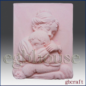 Mother Cradle Her Child- Detail of High Relief Sculpture - Silicone Soap/polymer/clay/cold Porcelain Mould