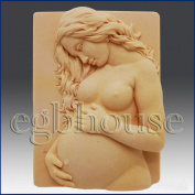 Expecting Mother- Detail of High Relief Sculpture - Silicone Soap/polymer/clay/cold Porcelain Mould