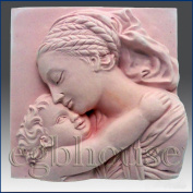 Dreaming Mother and Child- Detail of High Relief Sculpture - Silicone Soap/polymer/clay/cold Porcelain Mould