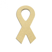 Mini 7.6cm Ribbon (Pkg of 4) Miniature Unfinished DIY Wooden Craft Cutout to Sell Stacked