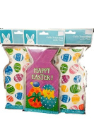 Easter Egg Shaped Cello Treat Bag & Happy Easter Chick in Egg Cello Treat Bags with Ties-Total 45 Bags and Ties
