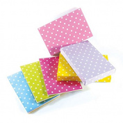 "Large Pastel Polka Dot Foldable Paper Gift Boxes Assorted Coloured Size 17x 11"" x 6.4cm"