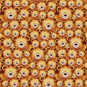 Brown Baby Bear Wrapping Paper - 1.8m Roll