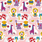 Cute Baby Animals Wrapping Paper - 1.8m Roll