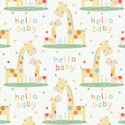 Hello Baby Wrapping Paper - 1.8m Roll