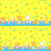 Baby Play with Cute Animals Wrapping Paper - 1.8m Roll