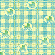 Green Baby Carriage Wrapping Paper - 1.8m Roll