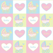 Baby Carriage Wrapping Paper - 1.8m Roll