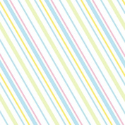 Baby Diagonal Stripes Wrapping Paper - 1.8m Roll