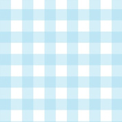 Baby Light Blue Grid Wrapping Paper - 1.8m Roll