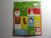 54 Sticker Christmas Tags
