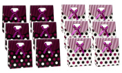 Gift Box Bags Polka Dot 6 x 5 x 5.1cm - 1.3cm Set of 12