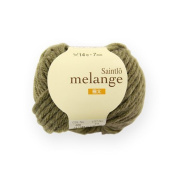 [10 balls one bag] wool melange [Saint-Lo hair mixed melange_ thick 608. Green Tea