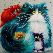 RACHELJP DIY Crystals Paint Kit 5D Diamond Painting By Number Kits Rhinestone Painting,Cats-41cm W*41cm L