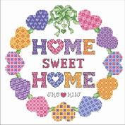 sweet home clock Counted Cross Stitch,Suzuki Clock ,egypt Cotton Thread ,14ct Cross Stitch Kits