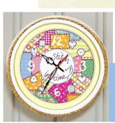Colourful Clock Counted Cross Stitch,suzuki Clock ,Egypt Cotton Thread ,14ct Cross Stitch Kits