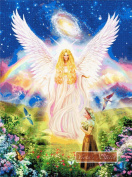 Angel and girl - large fantasy counted cross stitch kit