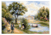 RIOLIS cross stitch kit 1527 Walk in the Park STICKPACKUNG
