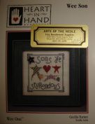 "Heart in Hand Needle Art Cross Stitch Pattern ""Wee Son"", Cecilia Turner Needle Artist"