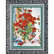 """Beaded DIY Embroidery Kit """"Poppies"""""""