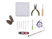 ShanTrip wool felt basic starter kit Green & original measure set