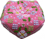 Cosmo cross stitch embroidery kit octagonal pin cushion Bisukonyu Flower No.3723