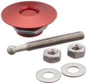 Quik-Latch Products QL-25-RD1.5 3.8cm Diameter Red Anodized Aluminium Mini Quick Release Latch