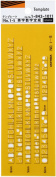 Uchida template No.1-S letters numbers ruler 1-843-1011