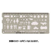 Dorapasu template P-type art ruler -2 P-6P pink 31662