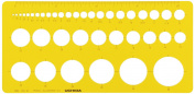 Uchida template No.101M circle with ruler ink edge 1-843-0111