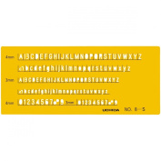 Uchida template No.8-S letters numbers ruler 1-843-1018