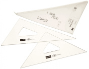 Uchida triangle ruler 18cm ~ 2mm scale without 1-809-1820