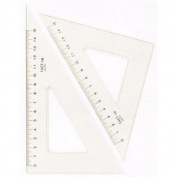 Dorapasu triangle ruler ink edge graduated 2.5mm thickness 15cm 13421
