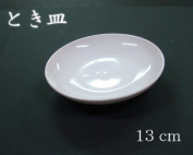 [Japanese paintings, ink painting, picture letter] Toki dish 13cm