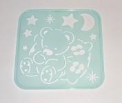 Tupperware Stencil Art Replacement Tiwi Bear Pillow Moon Stars #4663