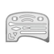 Uchida mesh precision shaped extinguishing plate 1-820-0002