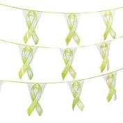 Lime Green Ribbon Pennant Banner