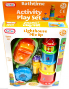 Bathtime Lighthouse Pile Up Activity Playset Boat Bath Toy Funtime Learning Toy